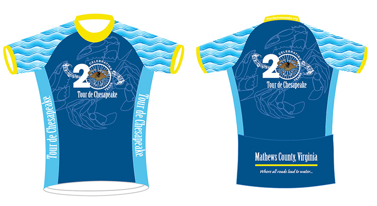 Tour de Chesapeake jerseys